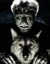 Nathan Anderson – Wolf And Man Color pencil on paper, 11×14